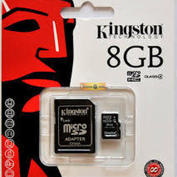 CARTE MEMOIRE MICRO SD KINGSTON 8GB