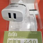 CHARGEUR DURATA 2.4A POUR IPHONE
